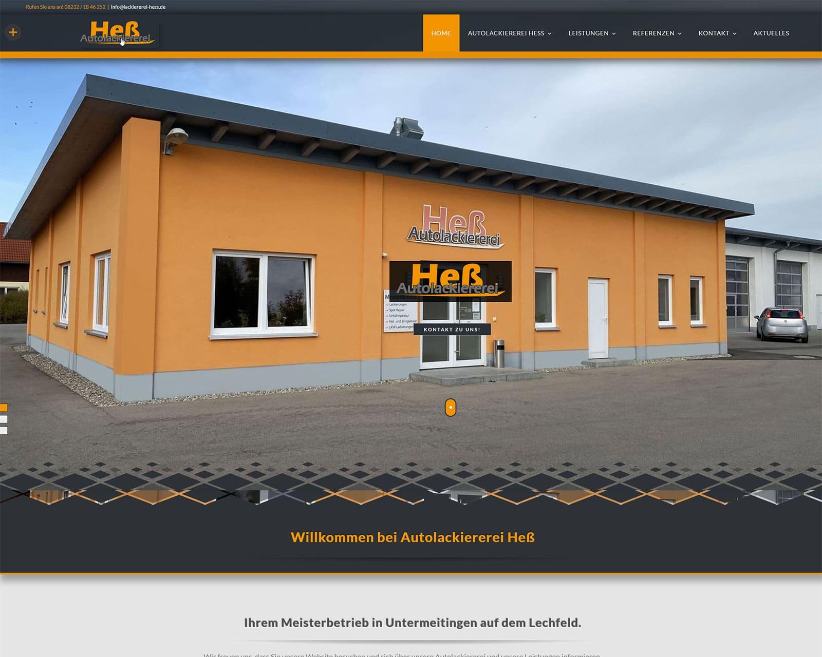 Website Autolackiererei Hess